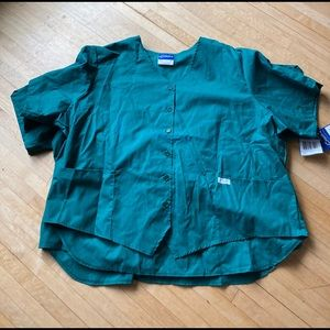 bundle of hunter green scrub tops